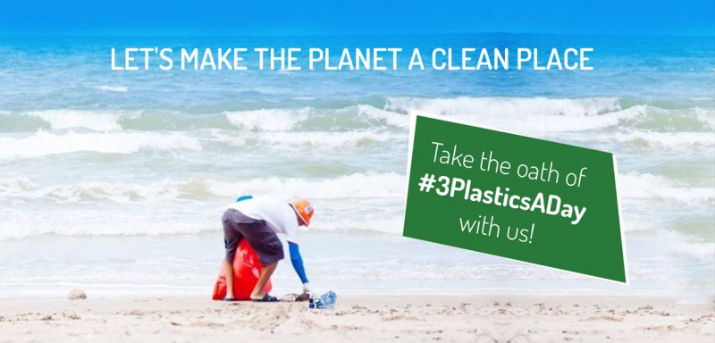 #3PlasticsADay - Let's make the Planet a Clean Place