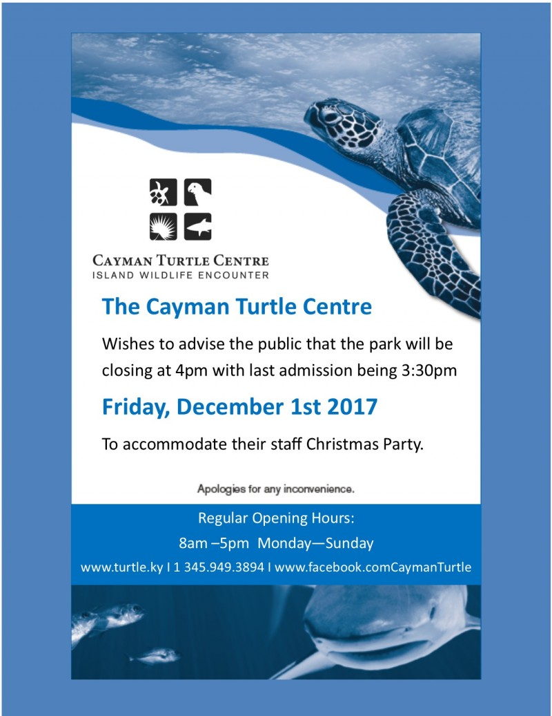 Early closure - Staff Christmas Party 2017