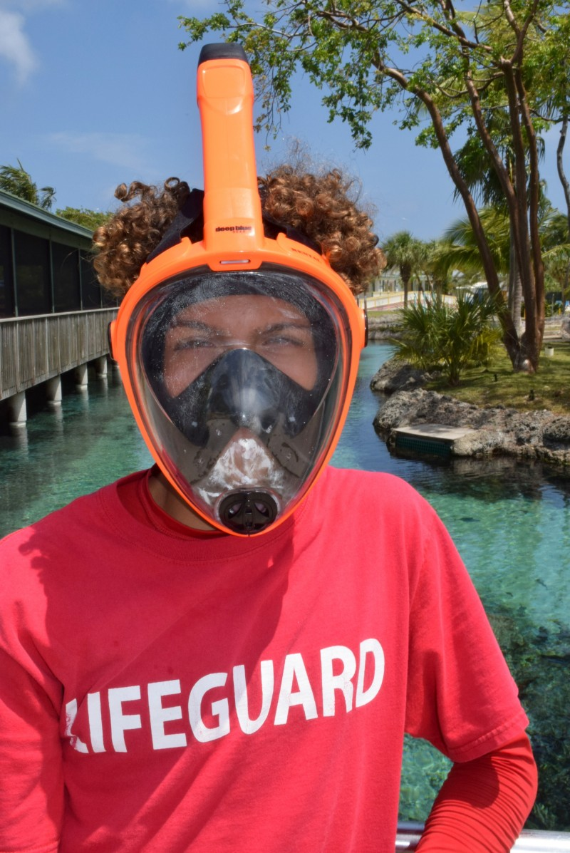 Smart new hut, and new snorkeling masks for Saltwater Lagoon