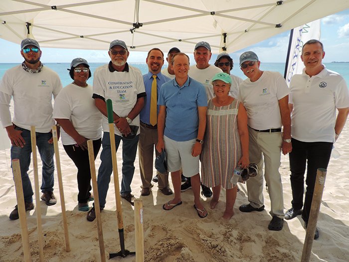 Group picture with the Governor, his wife & the Cayman Turtle Centre's team