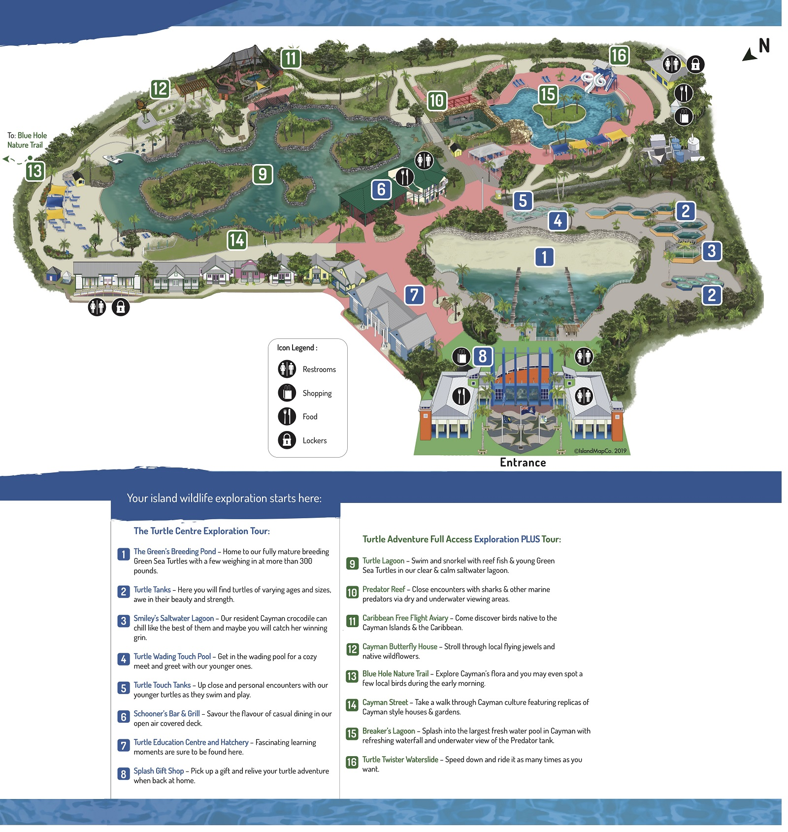 Cayman Turtle Centre Park Map